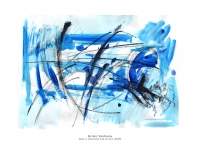 Blue I, charcoal & acrylic